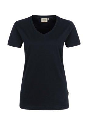 Damen-T-Shirt Performance Kurzarm, schwarz