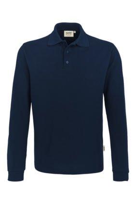 Herren-Poloshirt Langarm, khaki