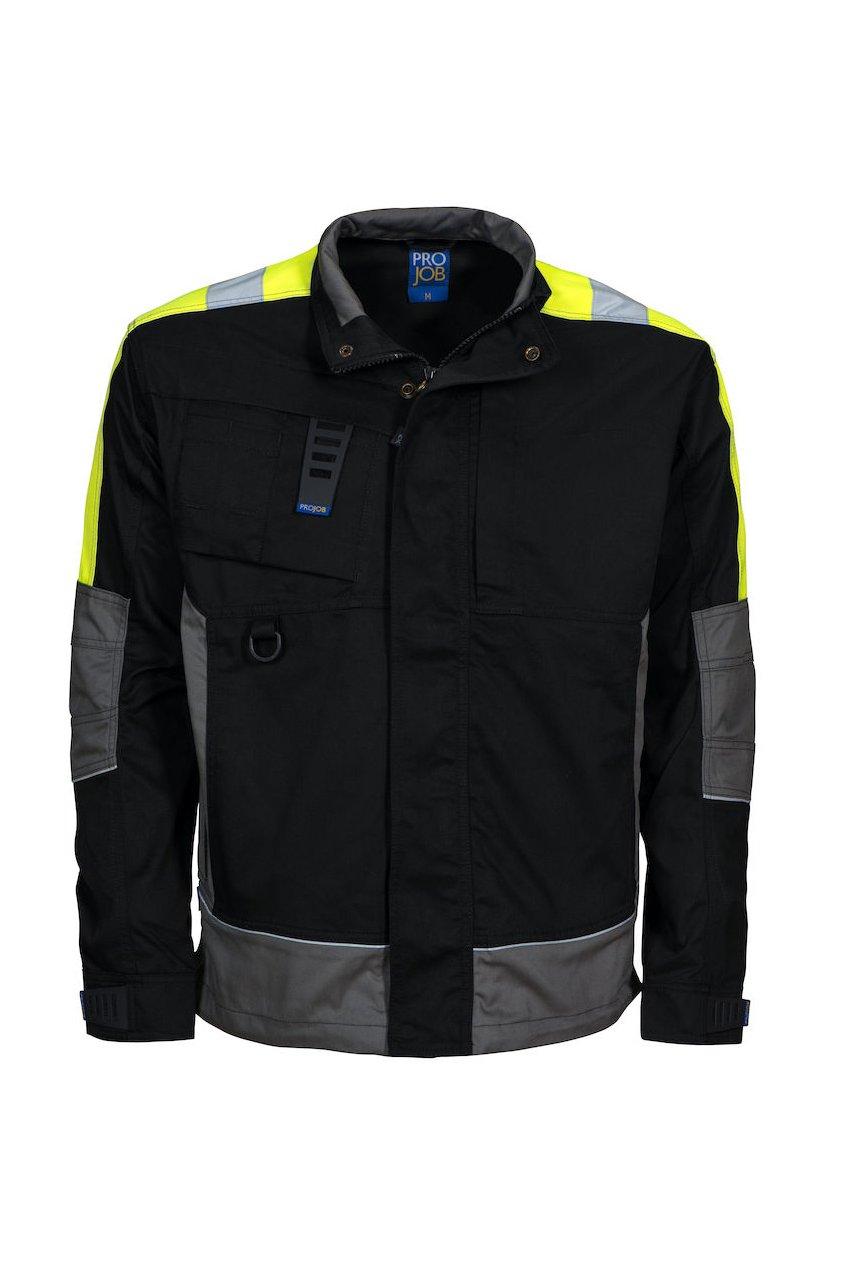 Jacke mit Kontrastelementen, schwarz