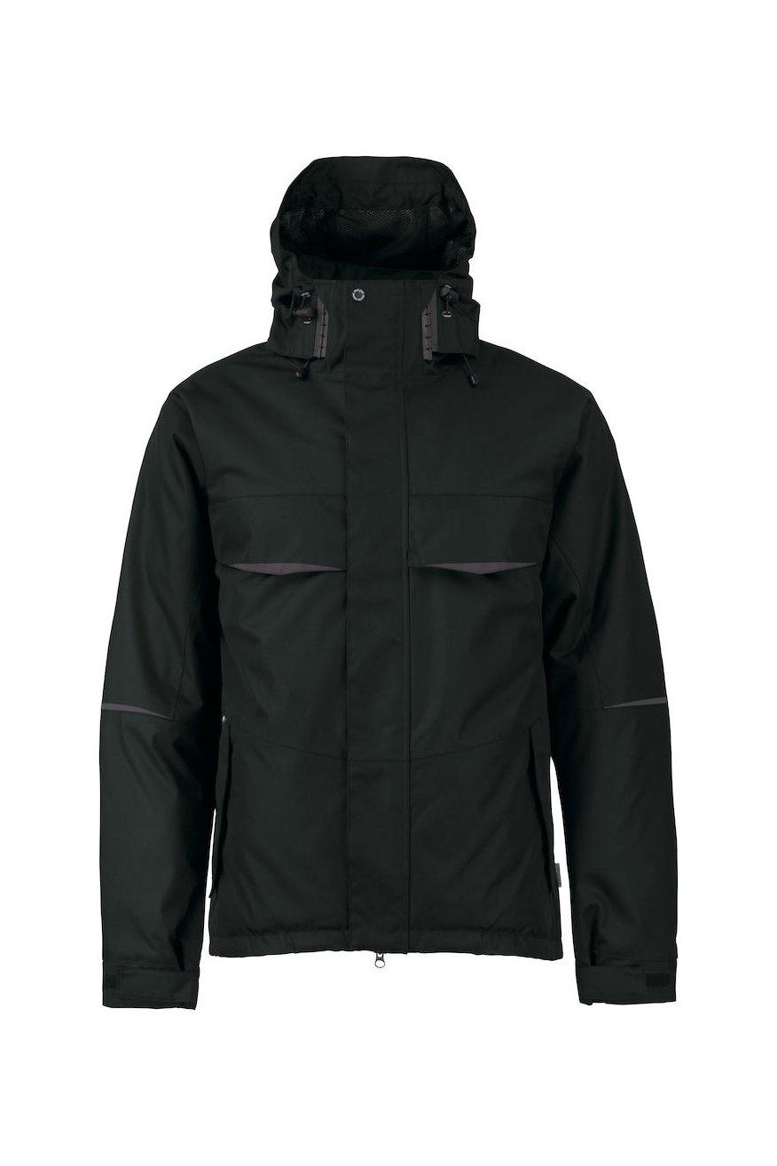 Wasser- und winddichte Jacke, schwarz