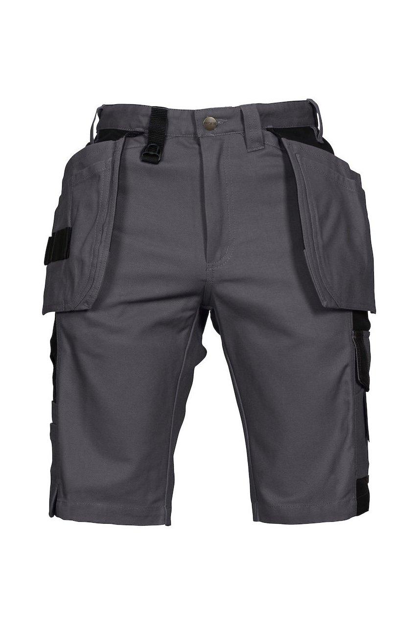 Oberschenkelverstärkte Shorts mit Hängetaschen, schwarz