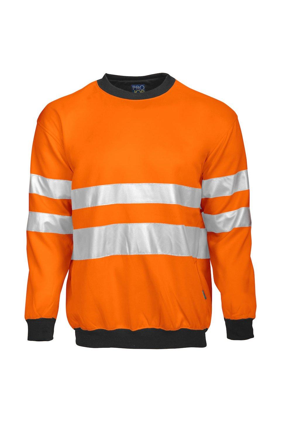 Sweatshirt EN ISO 20471 Klasse 3, gelb/schwarz