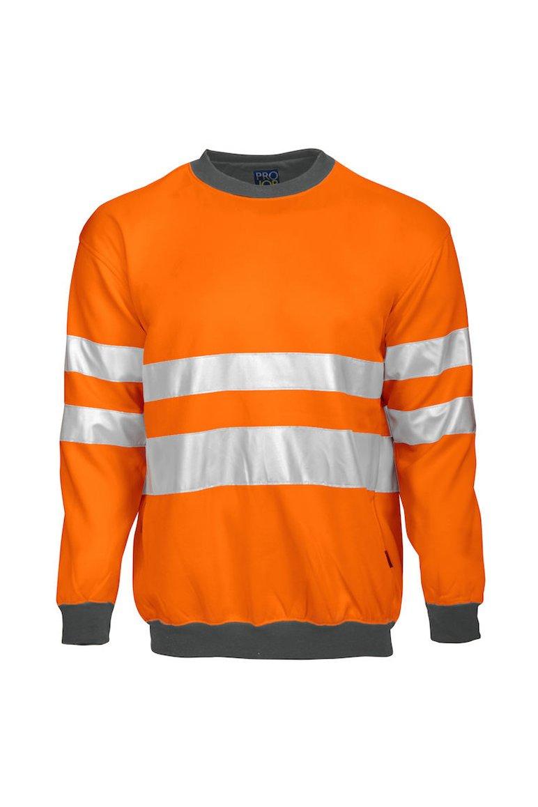 Sweatshirt EN ISO 20471 Klasse 3, orange/grau