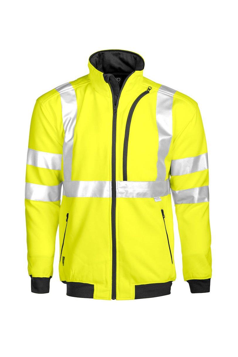 Sweatjacke EN ISO 20471 Klasse 3, gelb/marineblau