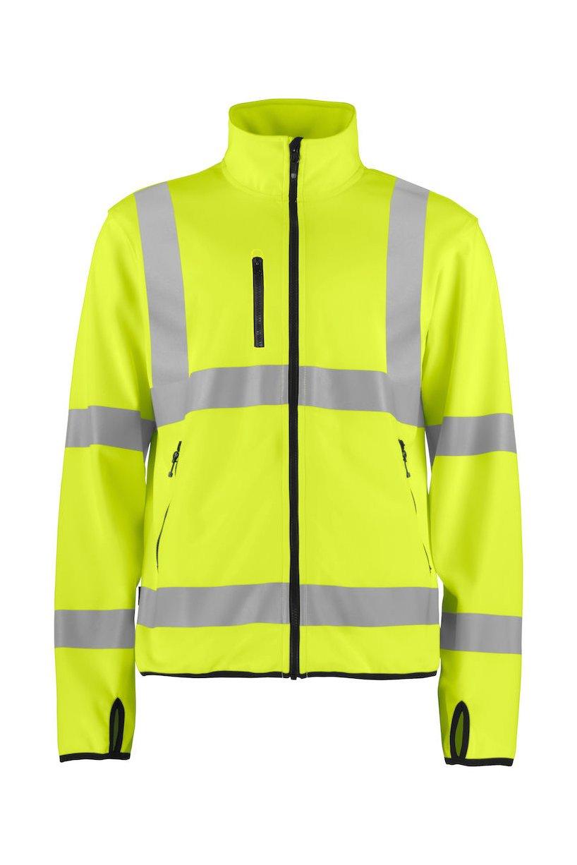 Leichte Warnschutz Softshell Jacke EN ISO 20471 Klasse 3