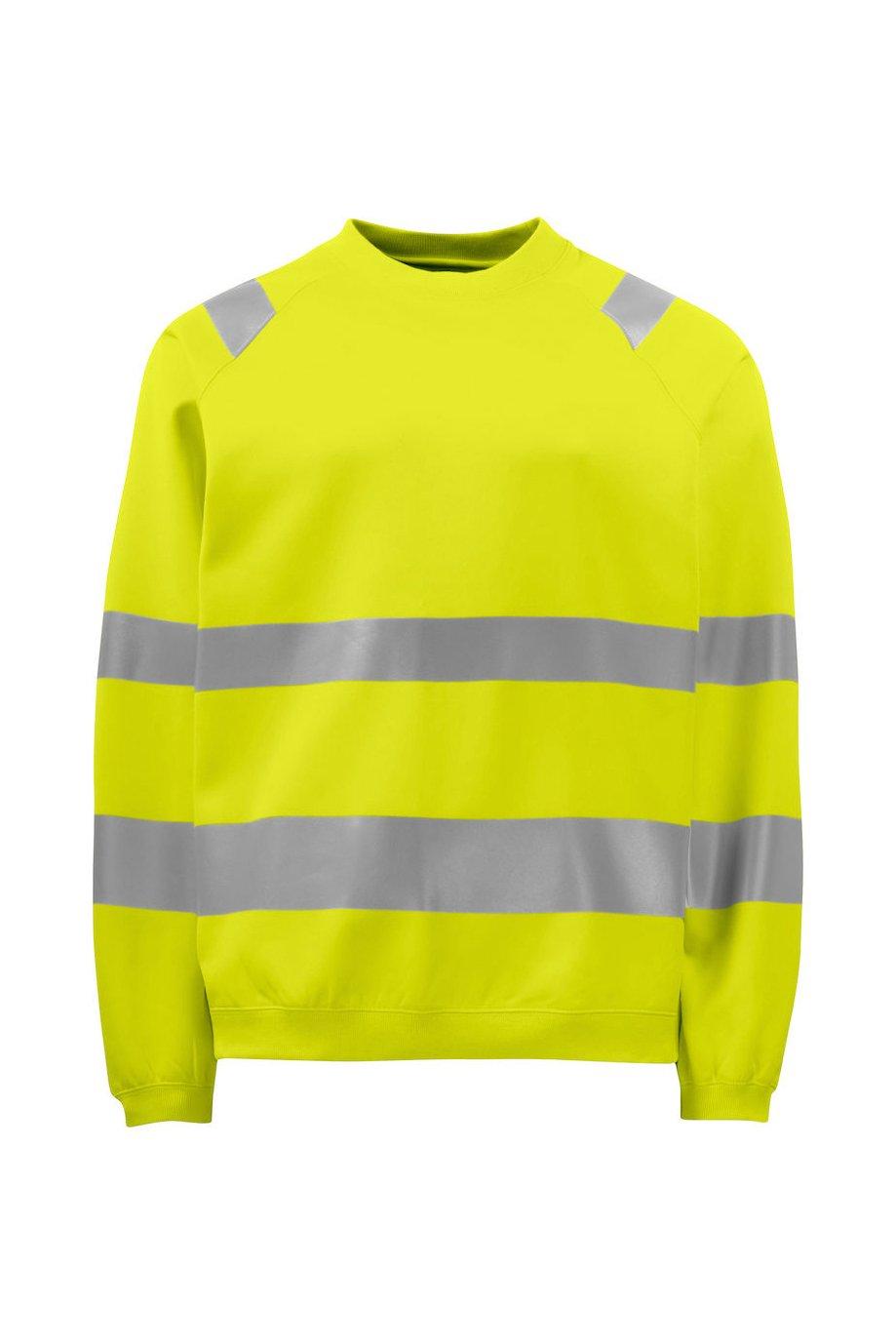 Sweatshirt EN ISO 20471 Klasse 3, gelb