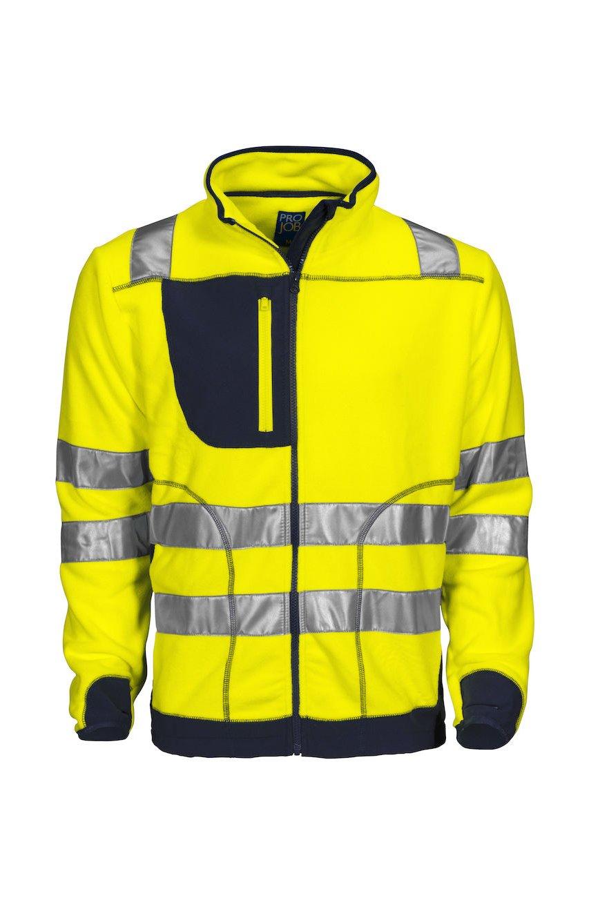 Polarfleecejacke EN ISO 20471 Klasse 3, gelb/marineblau
