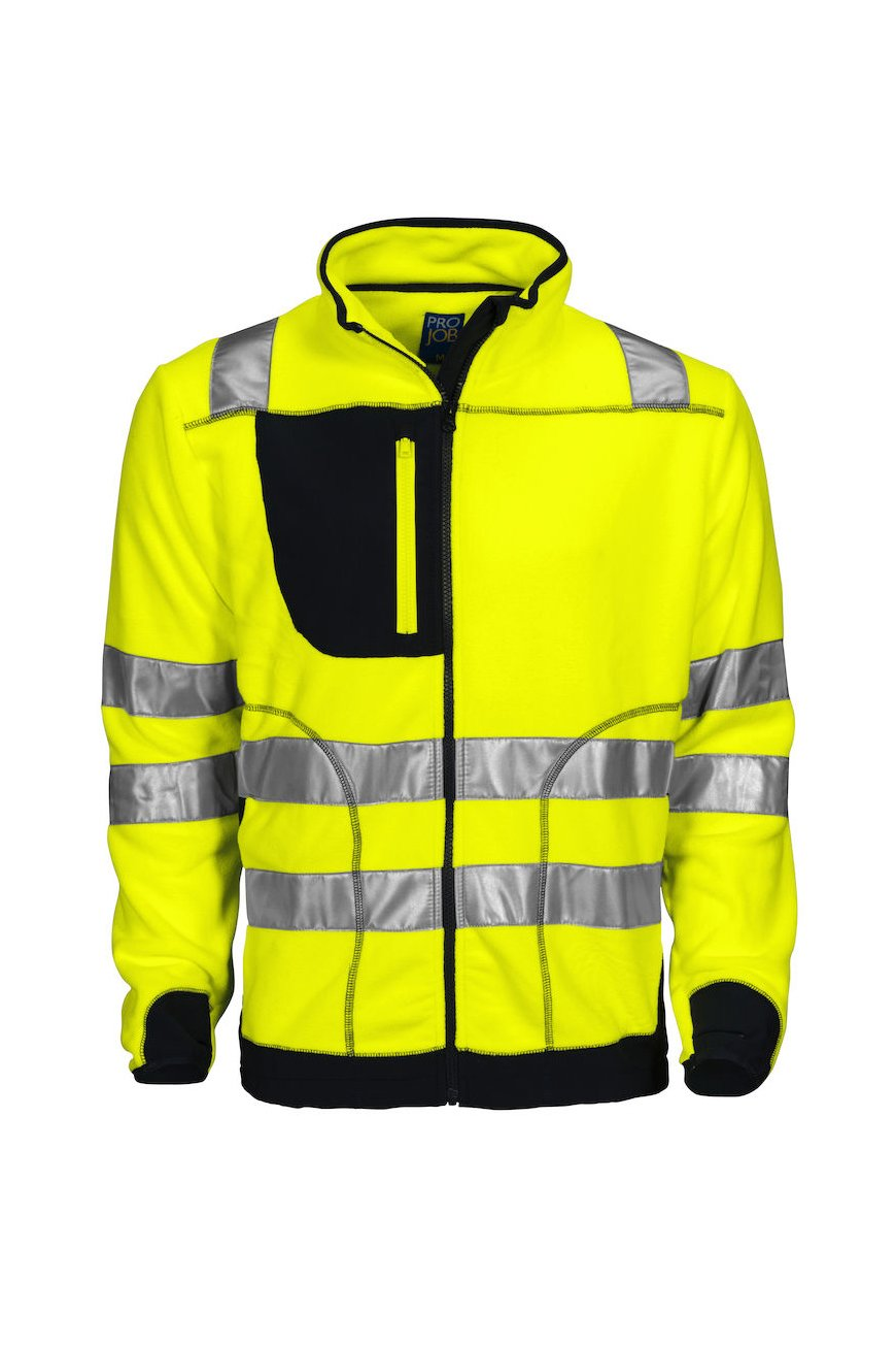Polarfleecejacke EN ISO 20471 Klasse 3, gelb/schwarz
