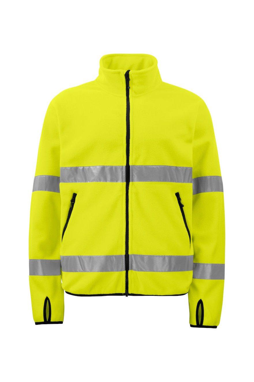 Warnschutz Polarfleece-Jacke EN ISO 20471 Klasse 3, gelb