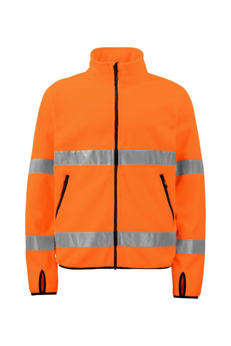 Warnschutz Polarfleece Jacke EN ISO 20471 Klasse 3, orange