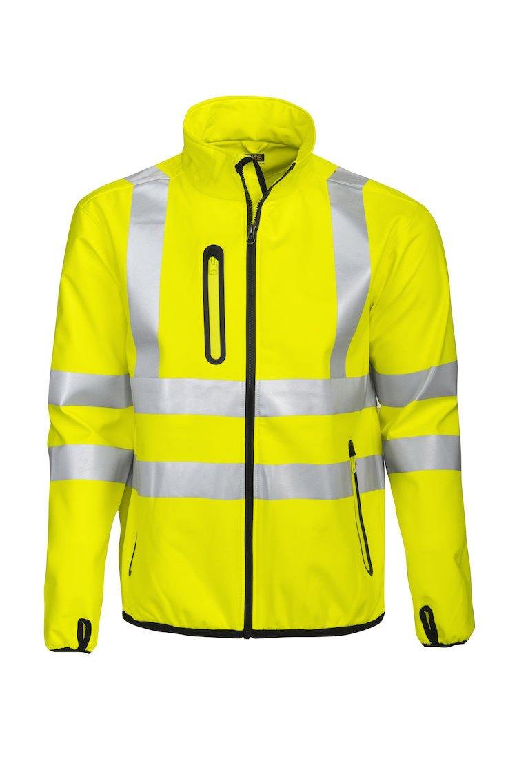 Softshell-Jacke EN ISO 20471 Klasse 3, gelb/schwarz