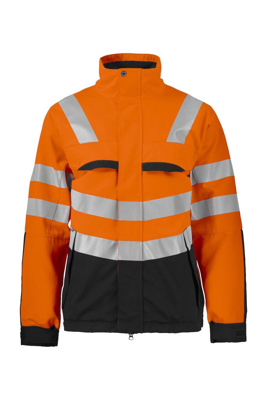 Jacke aus Mischgewebe EN ISO 20471 Klasse 3, orange/schwarz