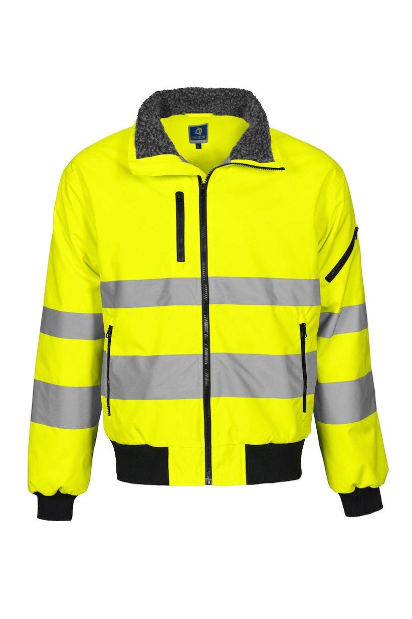 Pilotenjacke EN ISO 20471 Klasse 3, gelb/schwarz