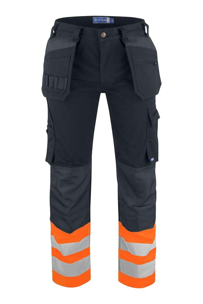 Warnschutz Arbeitshose EN ISO 20471 Klasse 1, orange/schwarz