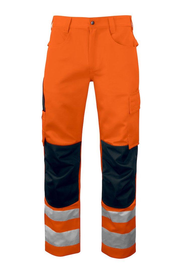Warnschutz Arbeitshose mit Knieverstärkung EN ISO 20471 Klasse 2, gelb/schwarz