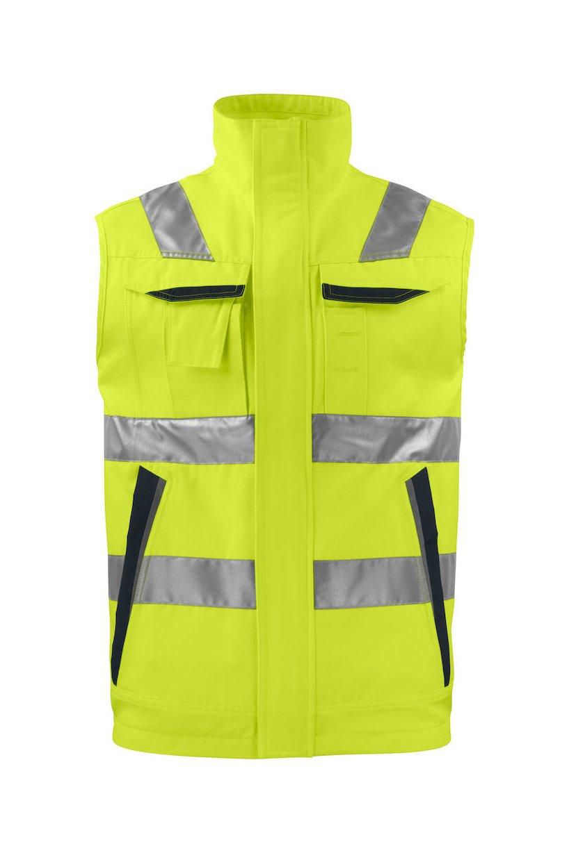 Warnschutz-Weste EN ISO 20471 Klasse 2, gelb/schwarz