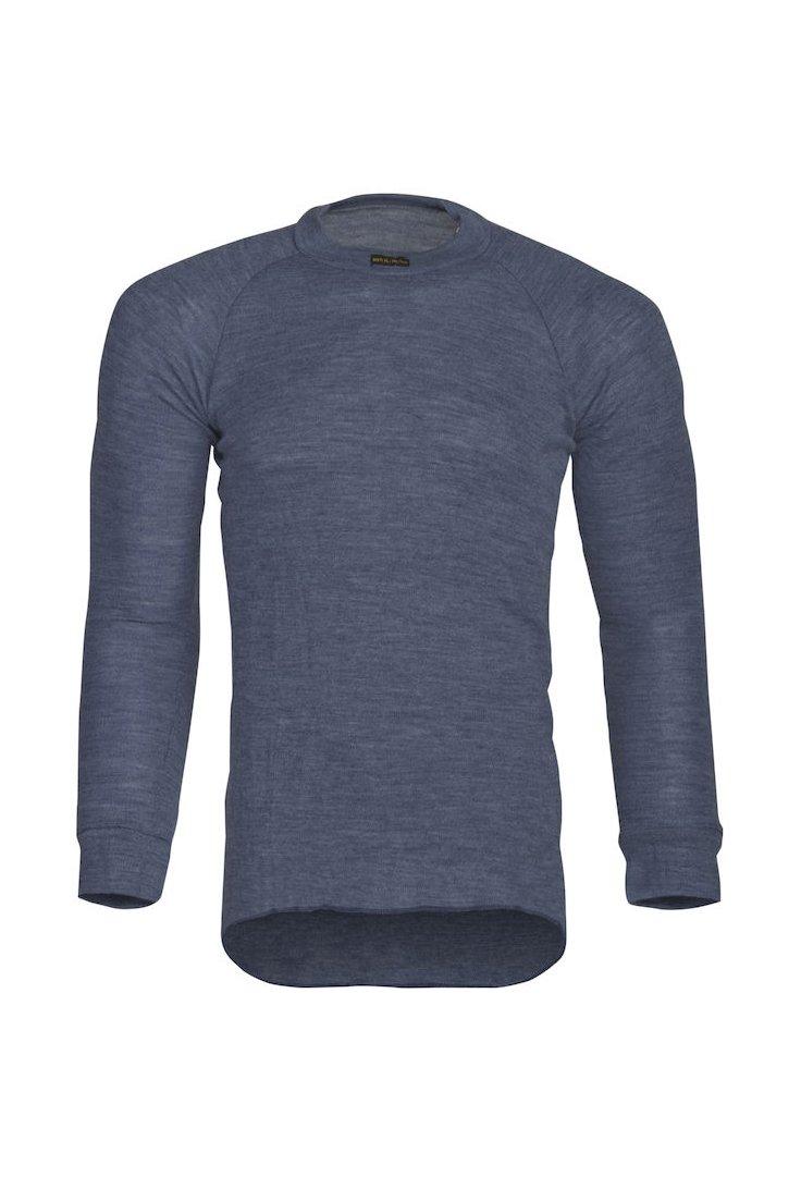 Flammhemmendes Langarmshirt, blau meliert