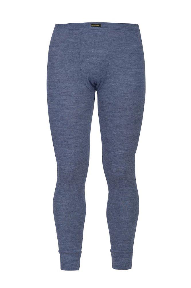 Flammhemmende lange Unterhosen, blau meliert