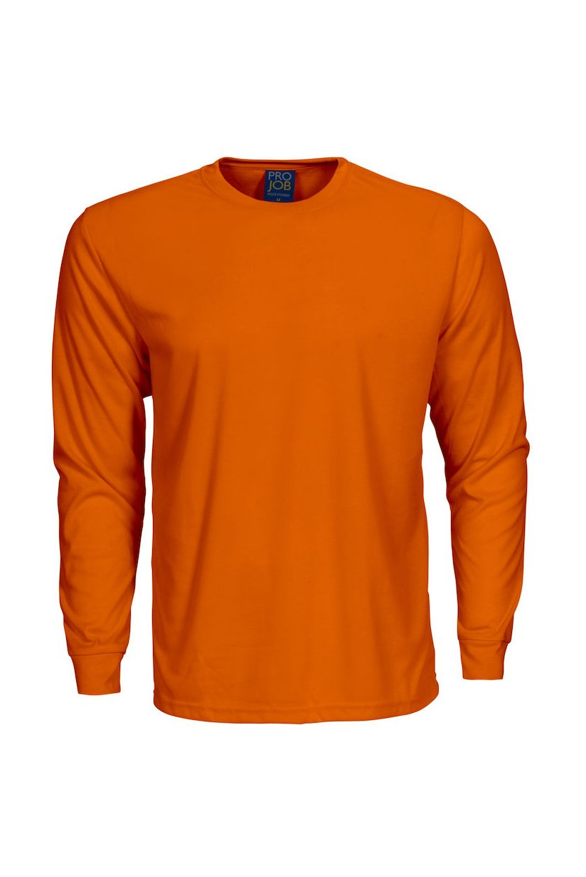 Langarm T-Shirt, orange
