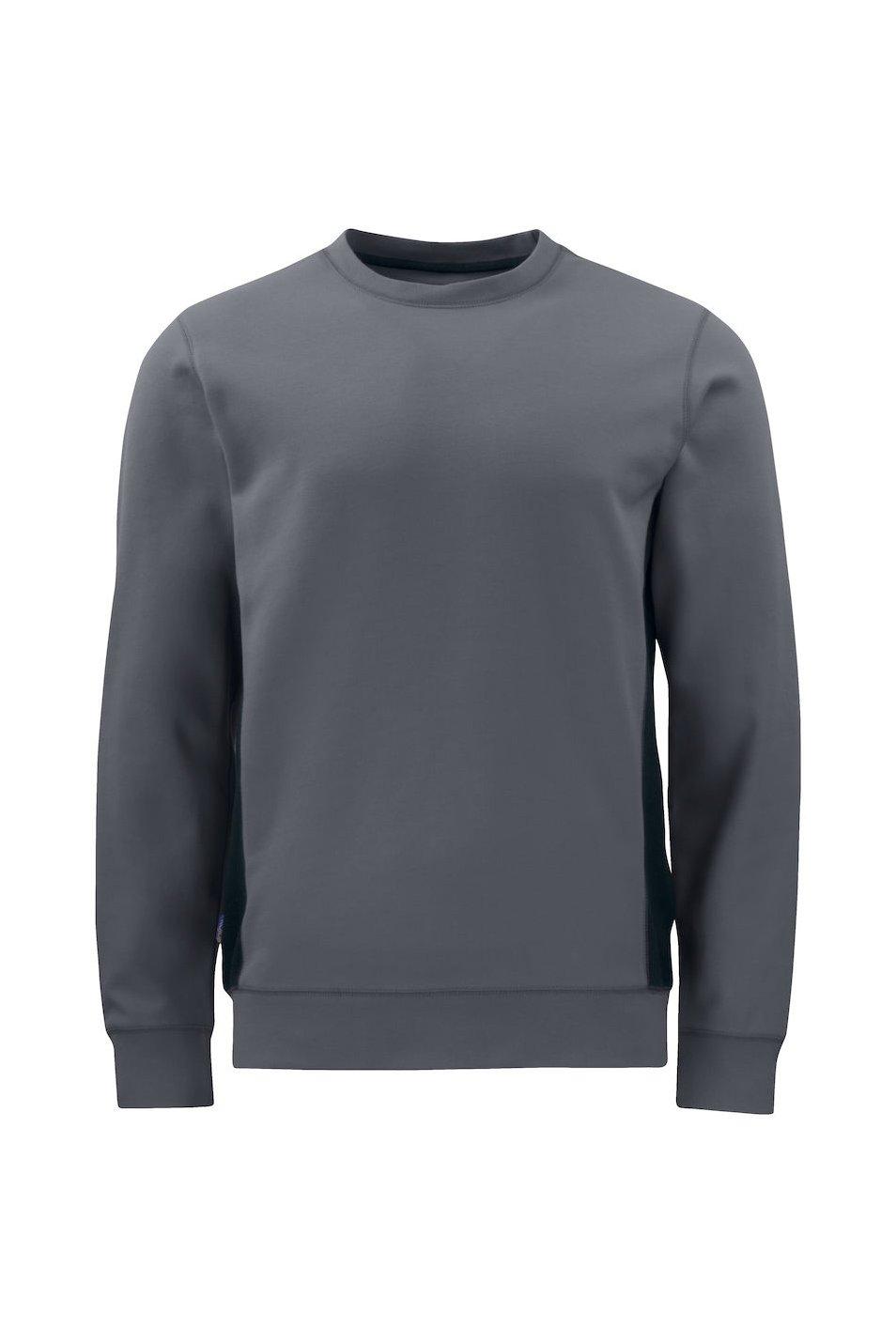 Sweatshirt mit Kontrastelementen, schwarz