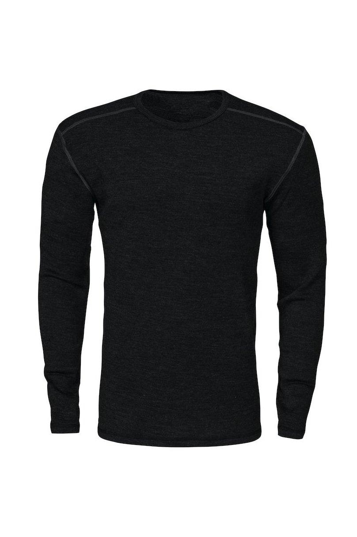 Unterhemd aus Merinowolle, schwarz
