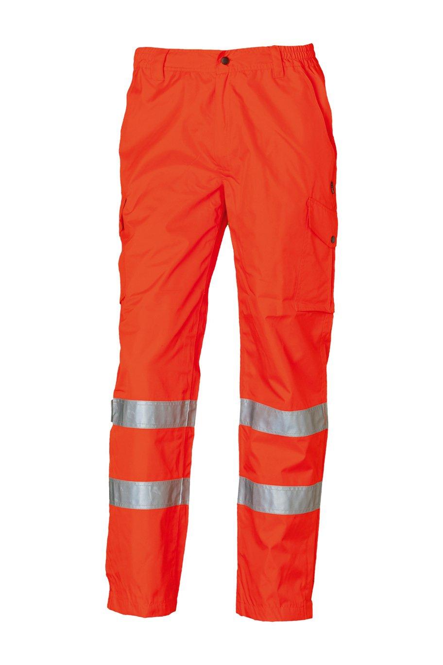 Sicherheitshose, fluorescent lemon/red, ISO 20471 Kl. 1