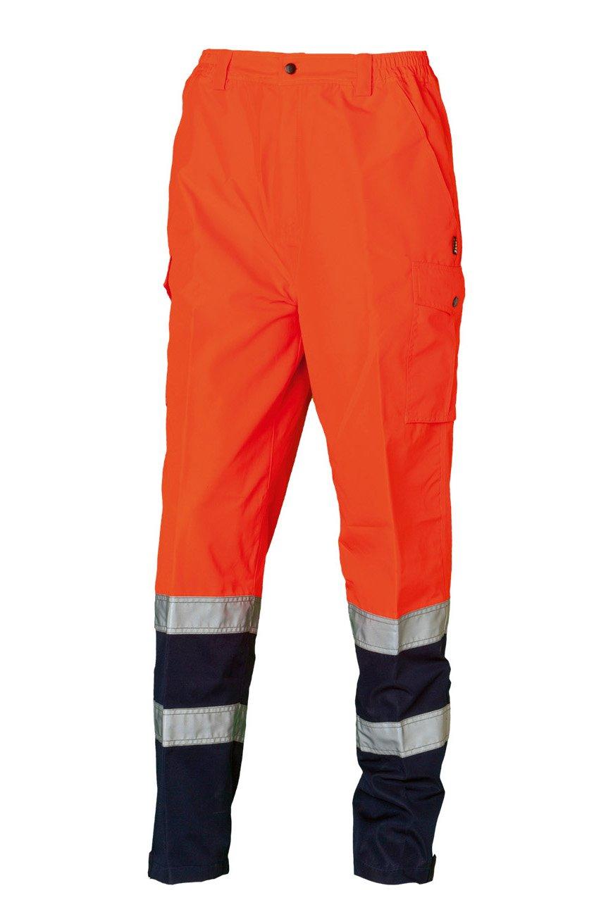 Sicherheitshose, fluorescent orange, ISO 20471 Kl. 1