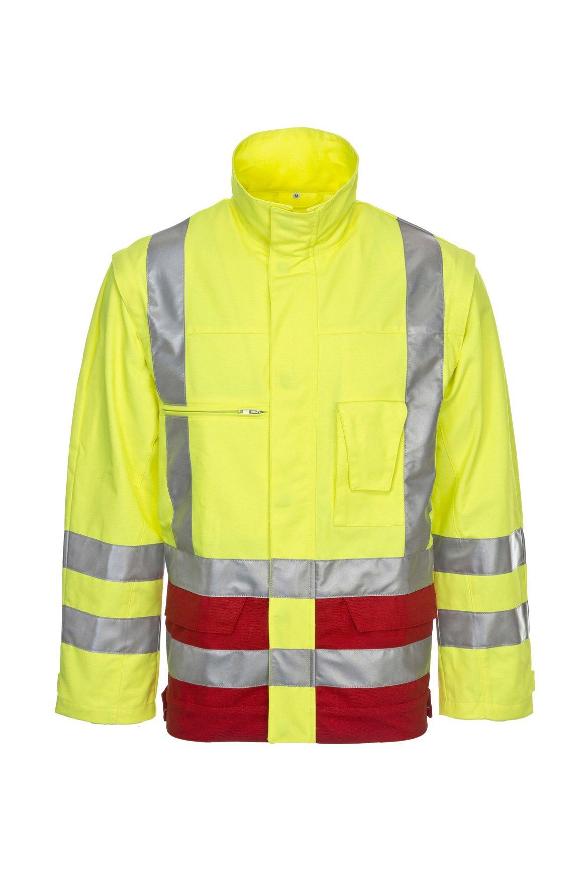 Warnschutz-Arbeitsjacke, fluorescent lemon/navy, ISO 20471 Kl. 2