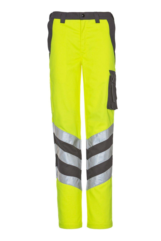 Sicherheitshose, fluorescent lemon/navy, ISO 20471 Kl. 2