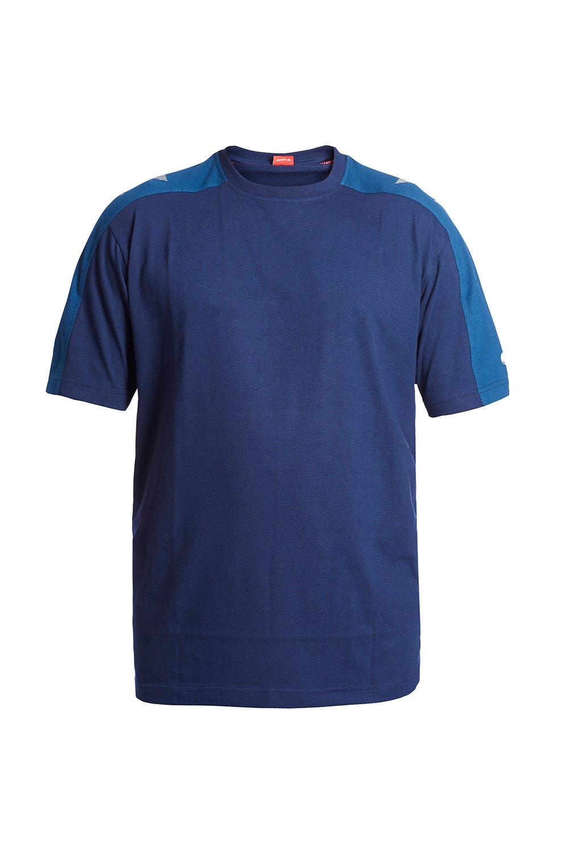 T-Shirt, weiss/anthrazit