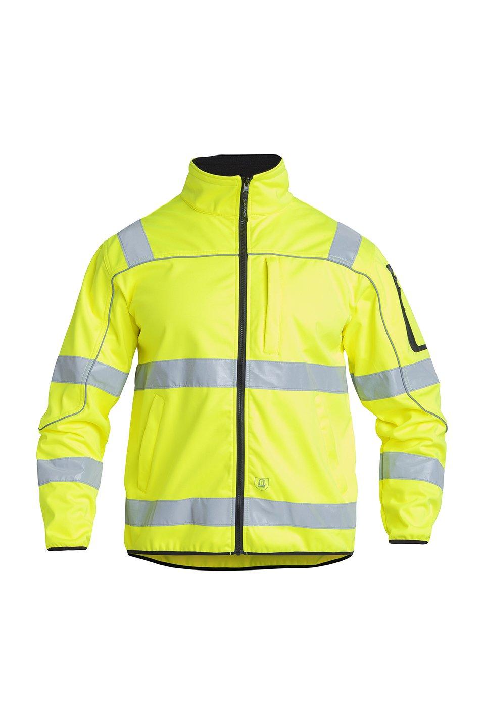 Warnschutz Softshell Jacke EN ISO 20471 Klasse 3, gelb