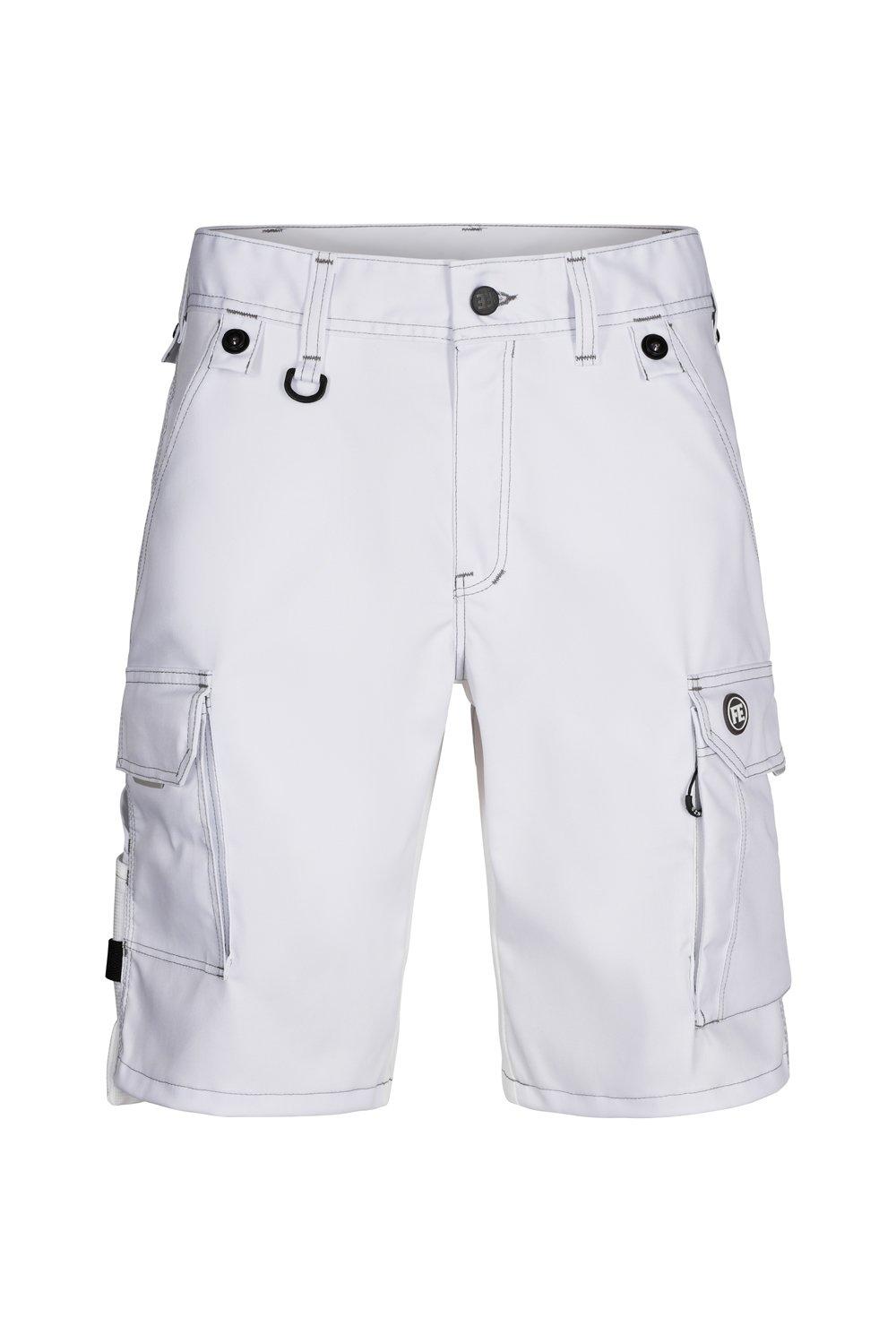 Shorts aus Stretch, weiss