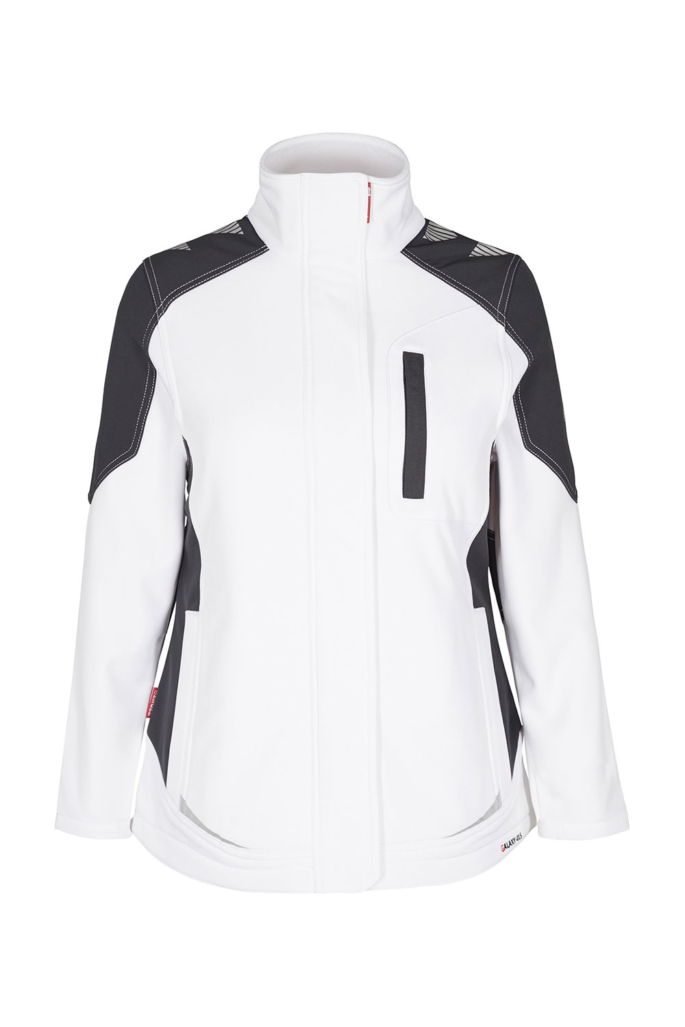 Damen-Softshelljacke, weiss/anthrazit