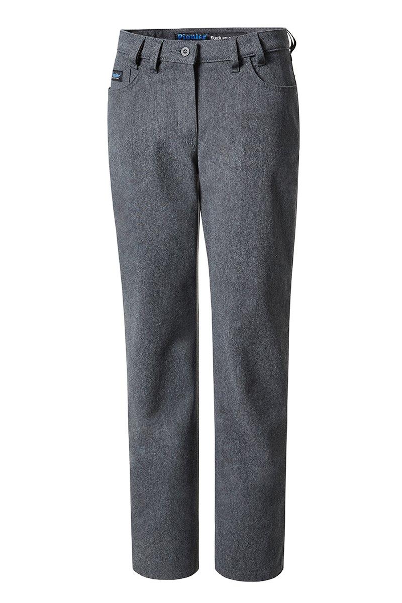 Damen Gabardine Jeans, anthrazit