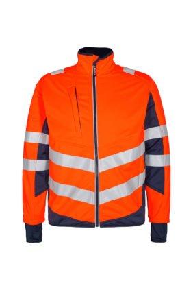 Softshelljacke EN ISO 20471, orange/grün