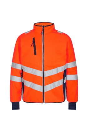 Fleecejacke EN ISO 20471, orange/grün