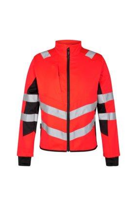 Jacke ENISO 20471, rot/schwarz