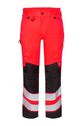 Hose EN ISO 20471, rot/schwarz