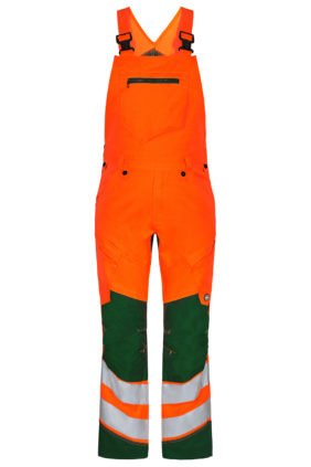 Latzhose EN ISO 20471, orange/grün