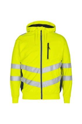Sweatcardigan EN ISO 20471, orange/grün