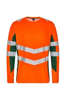 T-Shirt langarm EN ISO 20471, orange/grün