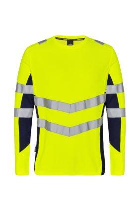 T-Shirt langarm EN ISO 20471, orange/anthrazitgrau