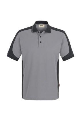 Herren-Poloshirt Kurzarm, weiss / anthrazit