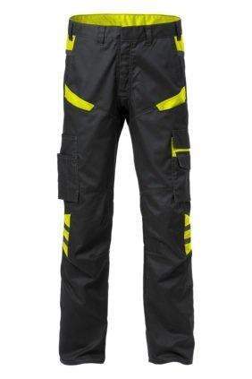 Arbeitshose, schwarz/gelb